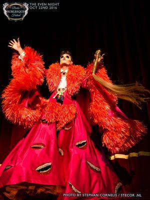 Pink Laughing Monster Costume - Reuben Kaye
