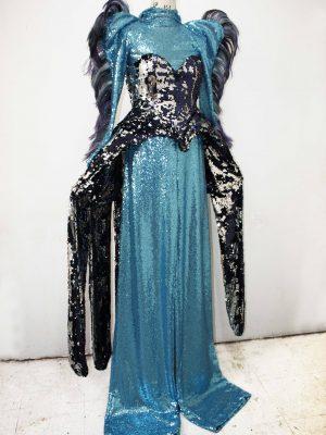 Blue Jay Stilt Walker Costume - J. Burn