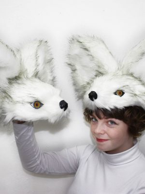 Snow Fox Headdress - J. Burn